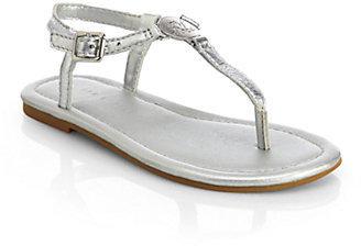 Ralph Lauren Kid's Sueanne Leather Sandals