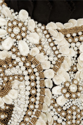Alexander McQueen Faux pearl and bead-embellished cotton harness