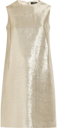 Calvin Klein Collection Metallic jacquard shift dress