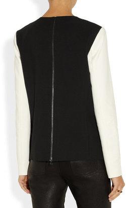 Tibi Anson two-tone stretch-crepe blazer