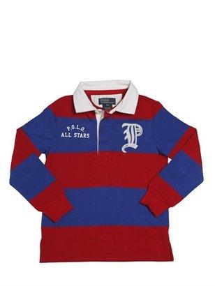 Ralph Lauren Two Tone Cotton Jersey Polo Shirt
