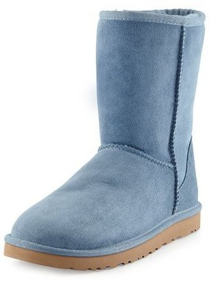 UGG Classic Short Boot, Dolphin Blue $130 thestylecure.com