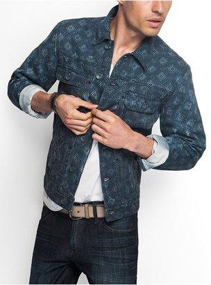 GUESS Geo-Print Denim Jacket