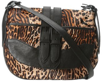 Rachel Zoe Kye Medium Messenger (Leopard/Black) - Bags and Luggage