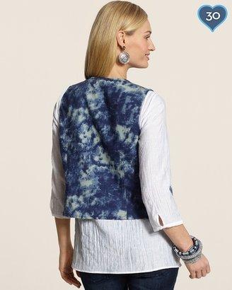 Chico's Tie-Dye Embellished Vest