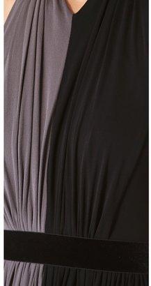 Rochas Halter Two Tone Dress