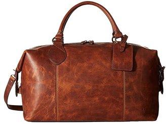 Frye Logan Overnight (Slate Antique Pull Up) Satchel Handbags