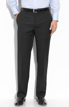 Men's Canali Flat Front Wool Trousers $345 thestylecure.com