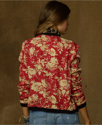 Denim & Supply Ralph Lauren Jacket, Floral-Print Bomber