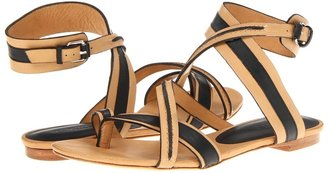 L.A.M.B. Carissa (Black Natural Leather) - Footwear