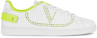 Valentino Garavani Backnet White Perforated Leather Sneakers