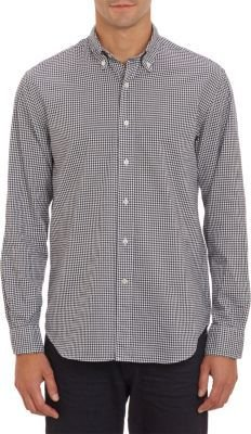 Barneys New York Gingham Oxford Shirt