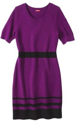Merona Women's Plus-Size Short-Sleeve Sweater Dress - Purple