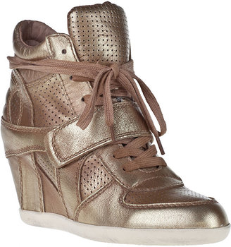 Ash Bowie-Ter Wedge Sneaker Platine Leather
