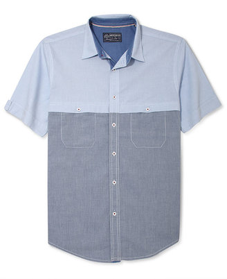 American Rag Shirt, Short-Sleeve Chambray Oxford Shirt