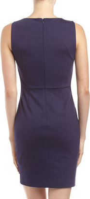 Erin Fetherston Sequined Ponte Combo Sheath Cocktail Dress