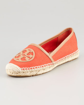 Tory Burch Angus Flat Espadrille Slip-On, Flame Red