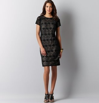 LOFT Crochet Lace Short Sleeve Dress