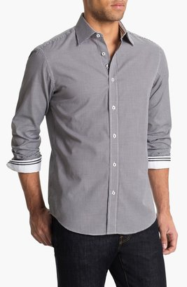 Bugatchi Shaped Fit Sport Shirt (Tall)