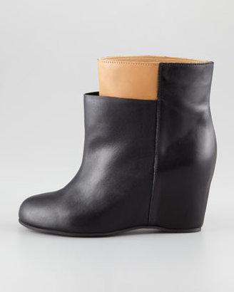 Maison Martin Margiela Two-Tone Wedge Ankle Boot