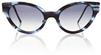 Cat Eye Cutler and Gross Cat-Eye Acetate Sunglasses Blue
