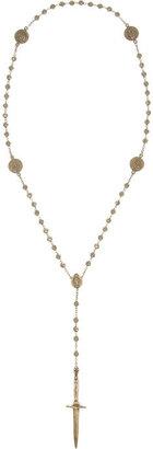 Pamela Love Rosebud Dagger bronze necklace