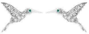 Cathy Waterman Diamond Hummingbird Stud Earrings - Platinum