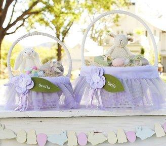 Pottery Barn Kids Lavender Fairy Easter Basket Liners
