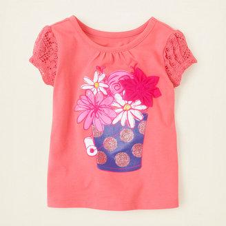 Children's Place Lace sleeve art top