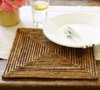 Pottery Barn Paros Rattan Square Charger
