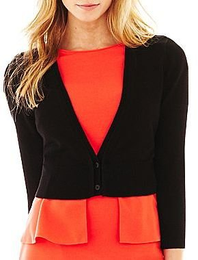 JCPenney Worthington® 3/4-Sleeve Cardigan