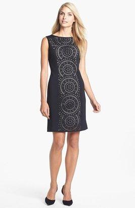 Tahari Laser Cut Shift Dress
