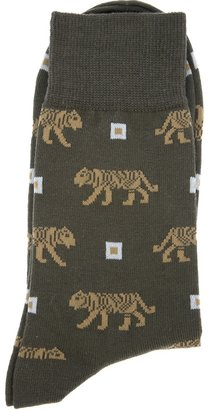 Kenzo tiger print sock