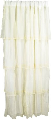 Tadpoles 1-Panel Tulle Tiered Window Curtain