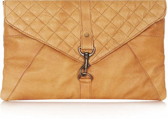 Topshop Quilted Clip Fasten Clutch Bag