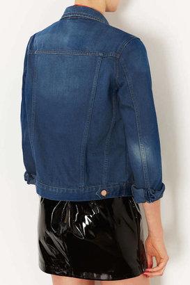 Topshop MOTO Blue Western Jacket