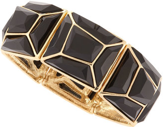 RJ Graziano Geometric Resin Cuff, Black