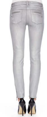 Michael Kors Metallic Zip Skinny Jeans