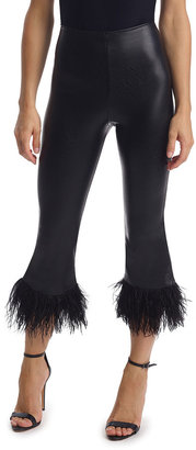 Commando Faux-Leather Feathered Ankle Leggings