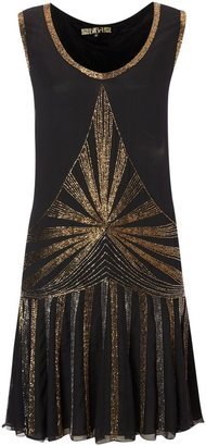 Biba Embellished flapper sleeveless dress