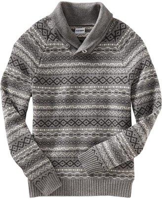 Old Navy Men's Fair Isle Shawl-Collar Sweaters