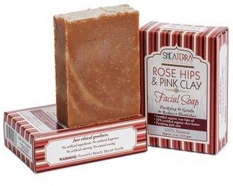 Shea Terra Rose Hips & Pink Clay Facial Cleansing Bar