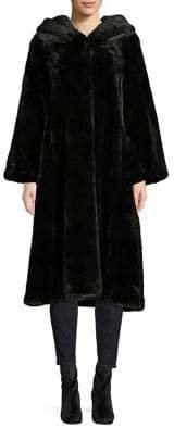 Jones New York Faux Fur Hooded Walker Coat