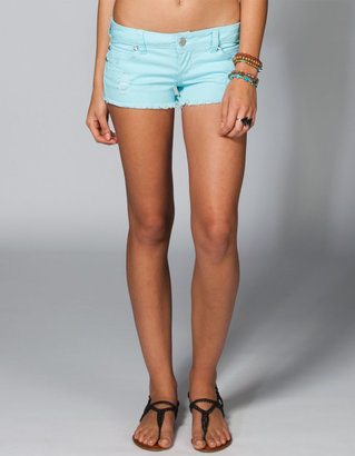 ALMOST FAMOUS Destructed Womens Denim Shorts