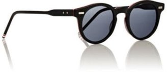 Thom Browne Men's Round Sunglasses-BLACK