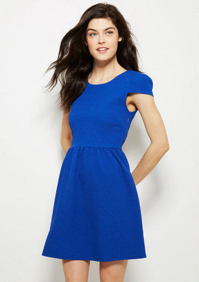 Delia's Pucker Knit Fit And Flare Dress