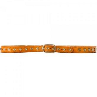 Linea Pelle Women's Vintage Flat-Hammered Stud Belt