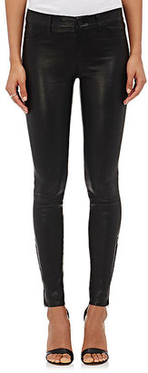 J Brand Women's 811 Mid-Rise Skinny Leather Pants $998 thestylecure.com