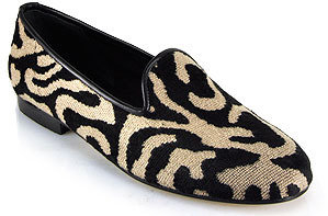 Zalo Gentry Dharma - Black Leopard Lip Based Flat