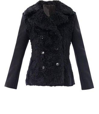 Acne Studios Edge wool fur pea coat